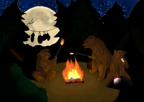 Camping by RedwllWrrior