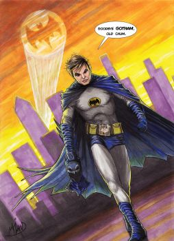 Adam West, The Bright Knight by Harshcore