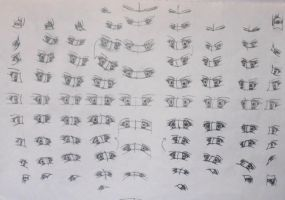 Anime eyes view points / angles redo by Xindi71