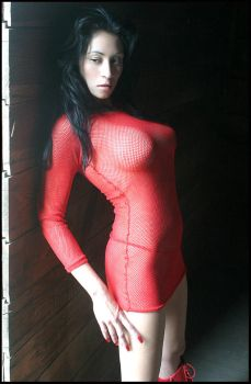 Red Fishnet by darkmatterzone