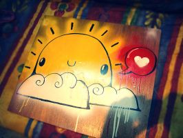 Sunny_on wood by daskull