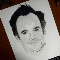 Paul Blackthorne Drawing by jeffa7xheiny