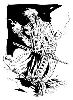 Gambit Sketch by deankotz