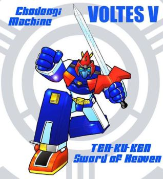 Voltes V and sword by bdy