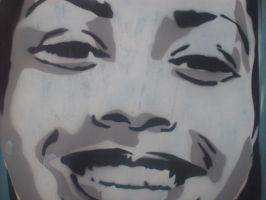 'Smile' Stencil alt. angle by RickyGunther