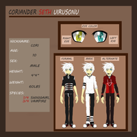 :Coriander Uirusonu: Reference Sheet 2012: by Vinabe