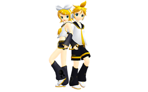 MMD Kagamine Rin and Len Ver2 and Ver3  Download by KyoshiShion
