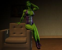 She hulk - Exclusive 05 by MorganCygnus