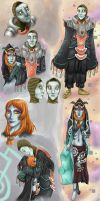 Midna and Zant Sketchdump by Skellagirl