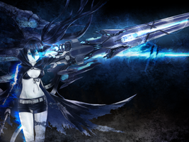 Black Rock Shooter Background by Drawing-Me-Closer