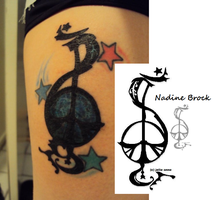 Nadine Brock's Tattoo by naifu
