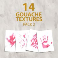 14 gouache textures - Pack 2 by Iskander1989