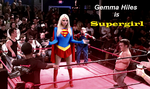 Gemma Hiles is Supergirl in a Fantasy Match by McGheeny