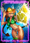 N30N City RUMBLE character poster 5 - Val Kyrie by DavyWagnarok