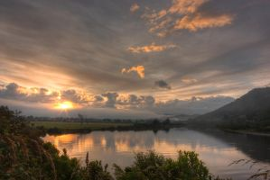 Grey River Sunrise by Mikelyjohnsono