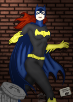 Batgirl In The Ally 2.0 by blackmoonrose13