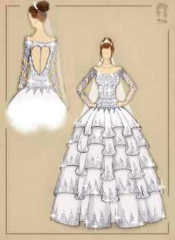 Wedding Dress Illustrated by wimmaWIWI