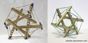 Bionicle MOC: Tensegrity Sculpture by Rahiden