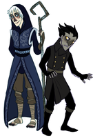 RotG - Father Frost and the young Boogeyman by Shaiger