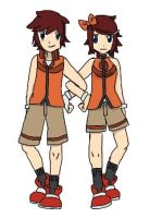 Fire Type Gym Leaders- Ricky and Lacey by Lady-of-Ratatosk