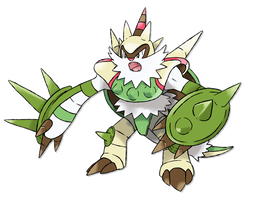 Mega Chesnaught by Lucas-Costa