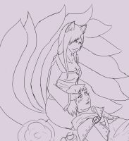 Ahri and Ezrael by Lady-Kara
