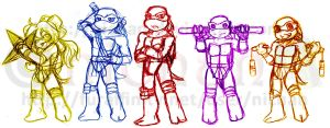 TMNT SD Fighters Conceptuals by nichan