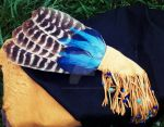Smudge Fan with Turkey Feathers and Leather Fringe by xsaraphanelia