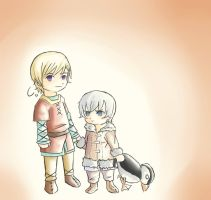Kid Norway and Iceland by Helenae-Cat