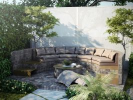 Backyard redesign - built in seating by kasrawy