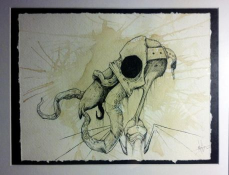 Spilt coffee and ink sketch by ShawnCoss