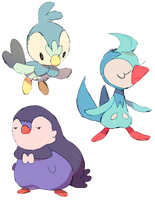 piplup by extyrannomon