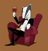 Wine Badger by dorarpol