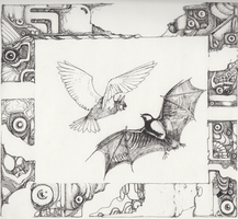 Bird and Bat by Zemie