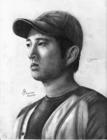Glenn ( Steven Yeun ) - The Walking Dead by tsiay
