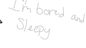 The result of combining boredom with sleepiness.. by cyngawolf