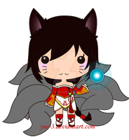 Ahri, the chibi Gumiho. by yue-3
