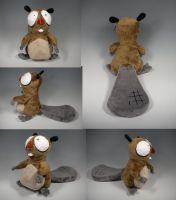 Gilford the Beaver Plush by WhittyKitty