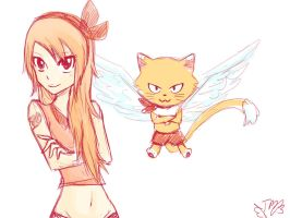 Fairy Tail OC: Yuuzu and Keru by kazumimomoi