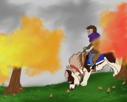 Inspecting the Autumn Grounds by AgentDarkhorse