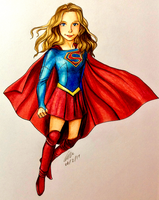 Supergirl Flying by artbox99