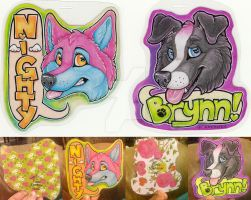 Brynn and Nighty ANE Badges 2016 by Crazdude