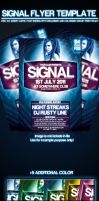 Signal Party Flyer Template by si-ajidz