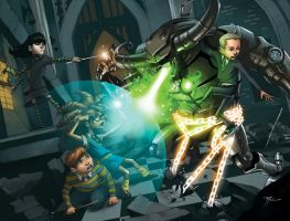 Hogwarts kids get busy by johnnyrocwell