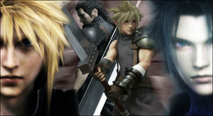 Cloud and Zack by snakeff7