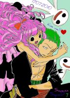 Perona and zoro by LuffySwan
