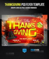 Thanksgiving Party Flyer Template by ImperialFlyers