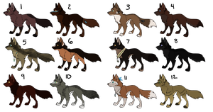 12 Wolf Adopts~ CLOSED by SapphireSquire