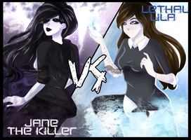 Jane The Killer Vs. Lethal Lila + Speedpaint by Scarmmetry