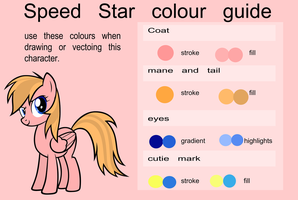 Speed Star colour guide by Bolt-Foxi